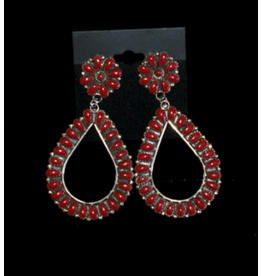 jewelry Coral Sterling Silver Earrings