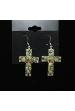 jewelry Navajo Carico Lake Cross Earrings
