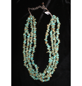ACCESSORY 4 Strand Turquoise Nugget Necklace