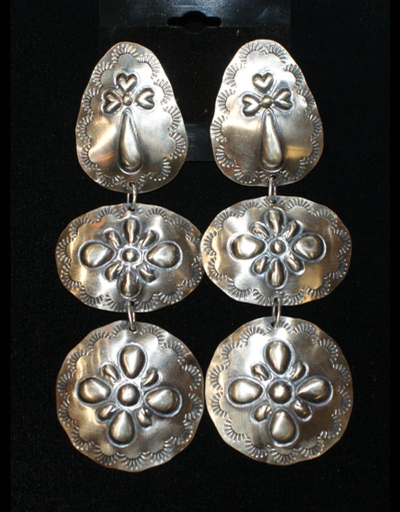 jewelry Navajo Long Stamped Silver Earrings