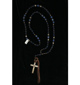 jewelry 3 Angels Lapis & Sterling Cross Necklace