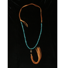 jewelry J Forks Tibetan Bead with Turquoise Necklace