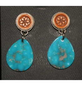 jewelry J Forks Kingman & Leather Earrings