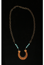 jewelry J Forks Horseshoe with Turquoise Necklace