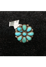 jewelry Navajo Sterling Flower Turquoise RIngs