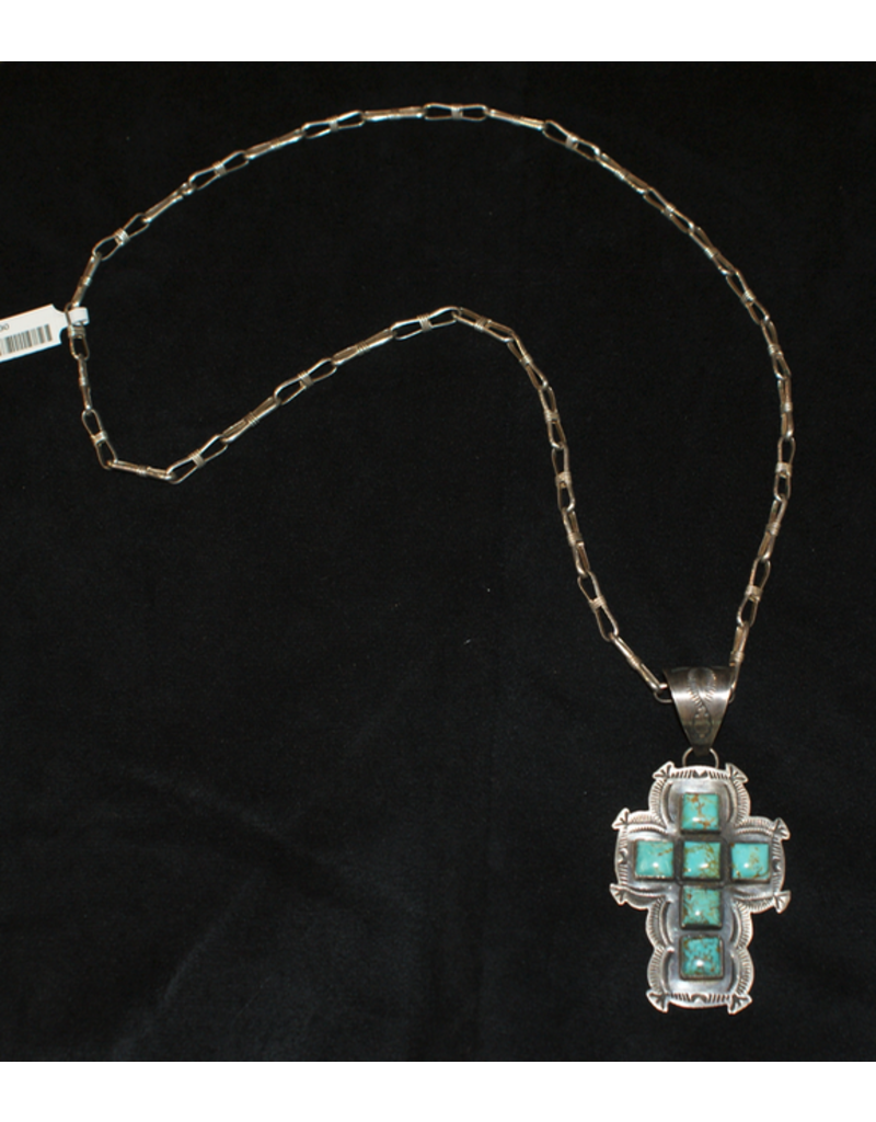 jewelry Turquoise Sterling Cross Necklace