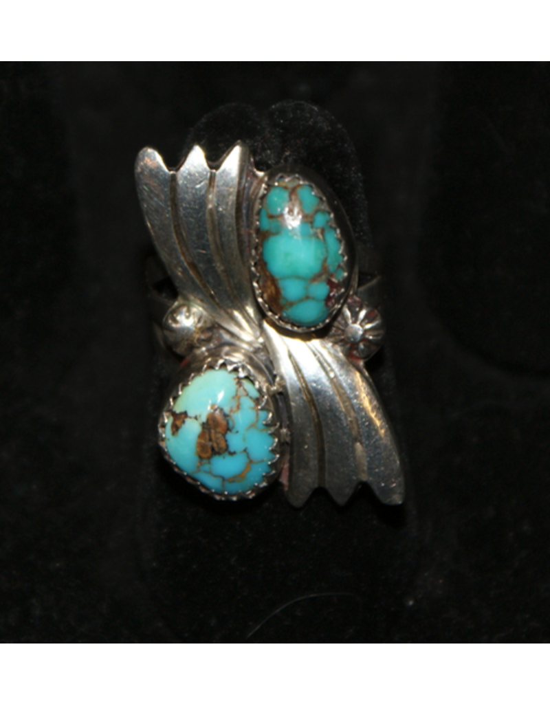 jewelry Turquoise & Feather RIng