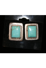 jewelry Rectangular Royston Sterling Silver Earrings