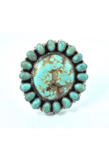 jewelry Navajo #8 Turquoise Cluster RIng