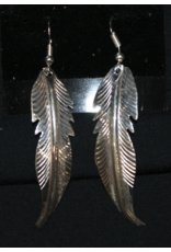 jewelry Sterling Silver Feather Earrings
