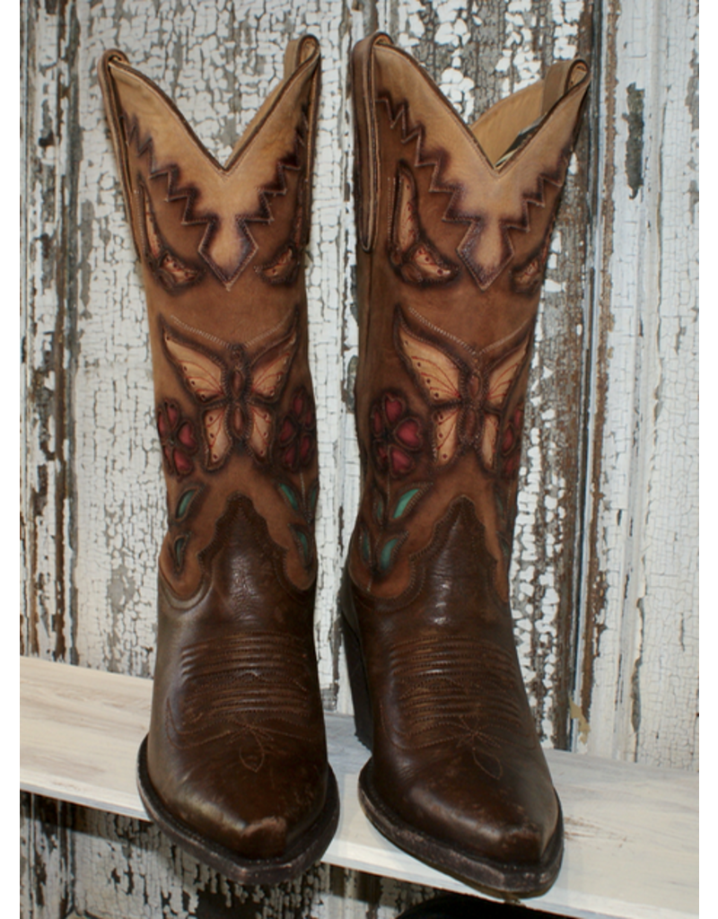 BOOT Liberty Shawna Butterfly Inlay Boot