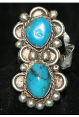 jewelry VIntage Double Turquoise Ring