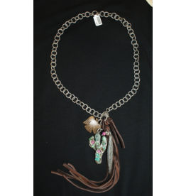 jewelry Cactus with Tassel and Charm
