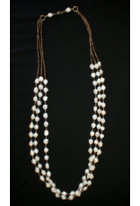 jewelry J. Fork Mother of Pearl & Shell Necklace