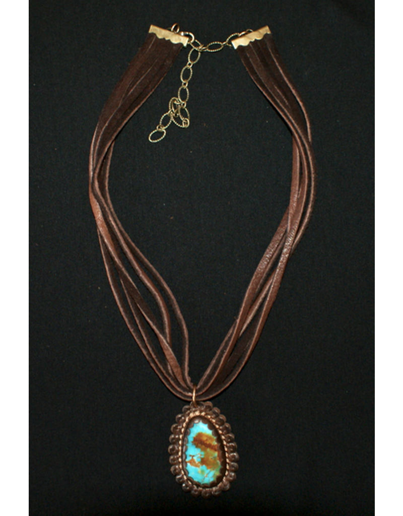jewelry J. Forks Leather & Turquoise Choker