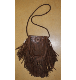 ACCESSORIES Kober Pounch Handbag with Horse Hair Tassle in Acorn
