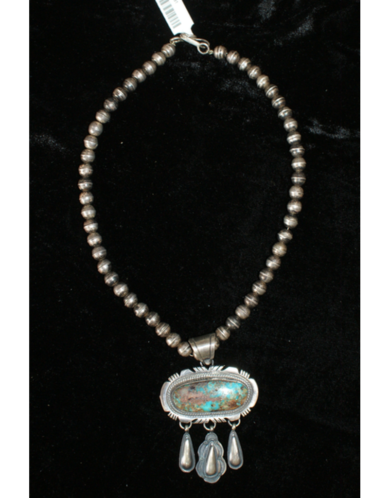 jewelry Vintage Navajo Pearls with Turquoise Pendant