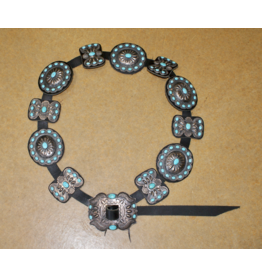 ACCESSORIES Vintage Sterling Kurt Smith Concho Belt