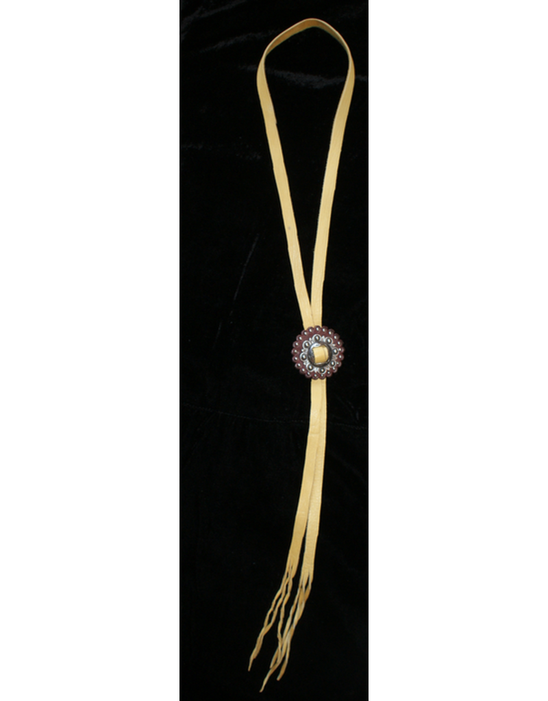jewelry Artsy Leather Bolo TIe