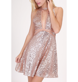 APPAREL Pink Disco Dress