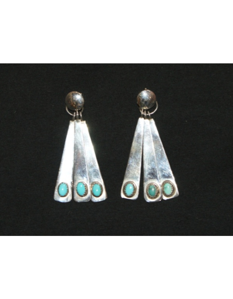 jewelry Sterling Silver Turquoise Earrings by Marc Begay