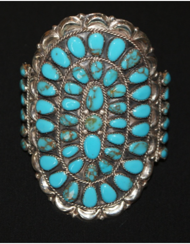 jewelry Large Turquoise Cuff by DLW