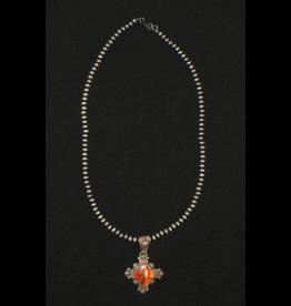 jewelry Navajo Coral Cross Necklave