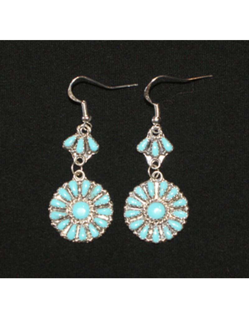 jewelry Navajo Cluster Turquoise Earrings