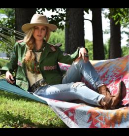 APPAREL Beaded Camp Jacket by Tasha Polizzi