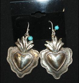 jewelry San Miguel Alpaca Heart Earrings