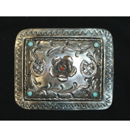 jewelry Rose engraved buckle