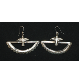 jewelry Half Moon with Dove Earrings