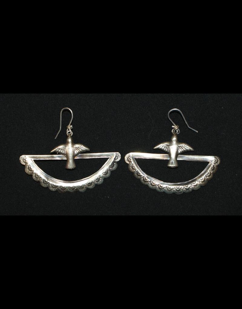 jewelry Half Moon with Dove Earrings