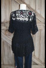 APPAREL Dolman Crochet Top by Johnny Was