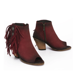 BOOT Red Shortie Peeptoe Boots