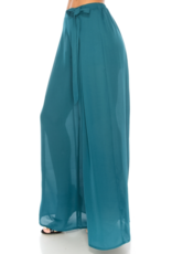 APPAREL Teal Palazzo Wrap Pants