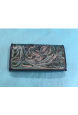 ACCESSORY Tooled turquoise small wallet