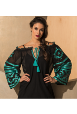 APPAREL Tribal Peasant Top by Roja