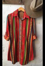 APPAREL Serape button down dress