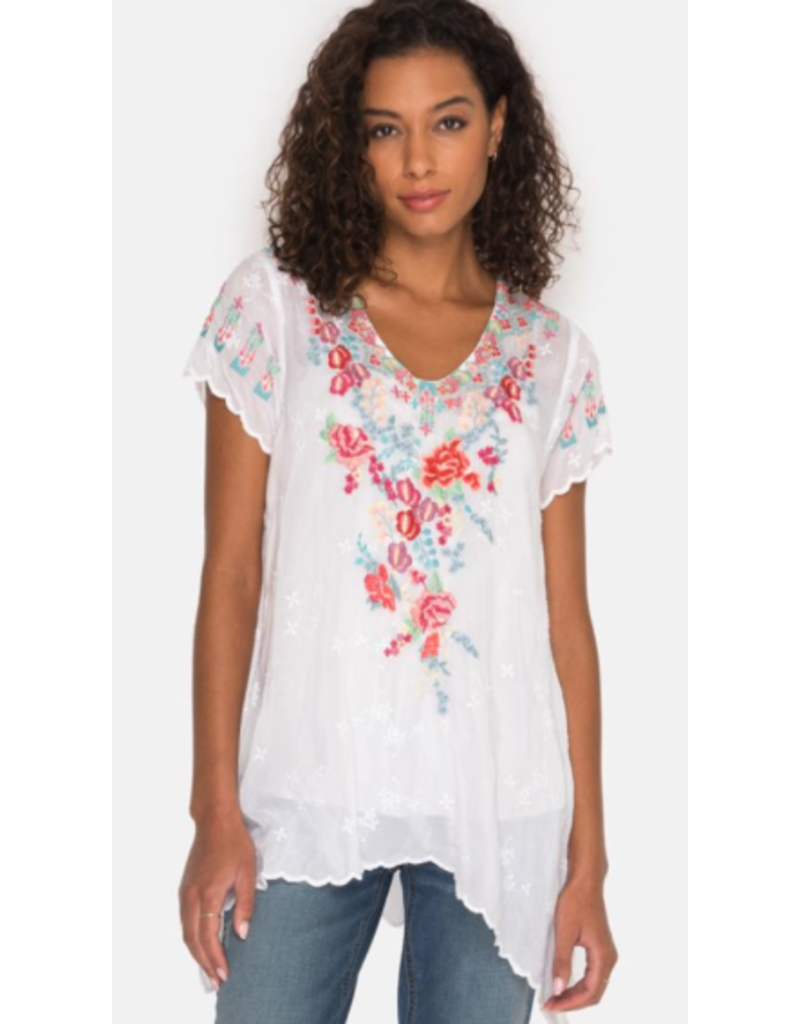APPAREL Hinga Flower Embroidered Tunic