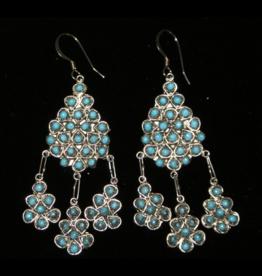 jewelry Vintage Zuni Snake Eye Chandelier Earrings