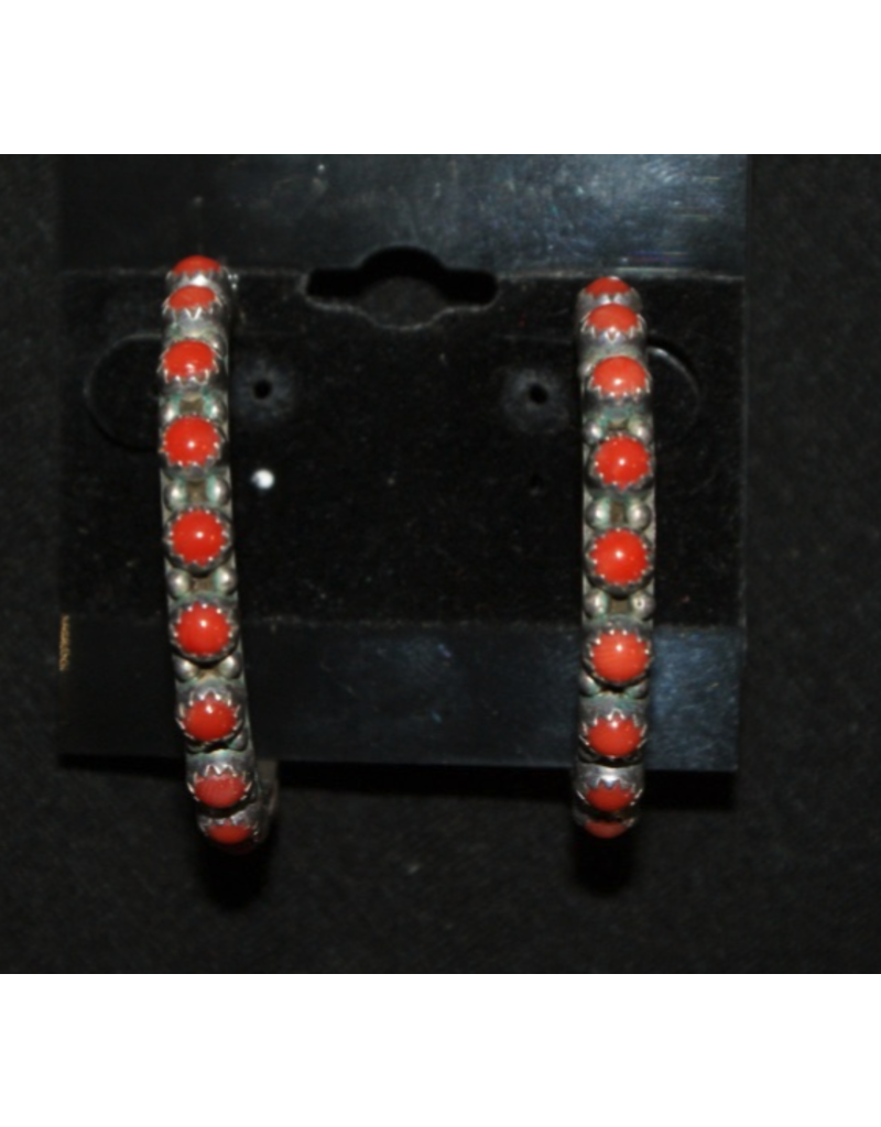 jewelry Vintage Coral Hoop Earrings