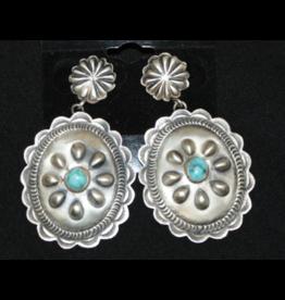 jewelry Sterling Concho Earrings