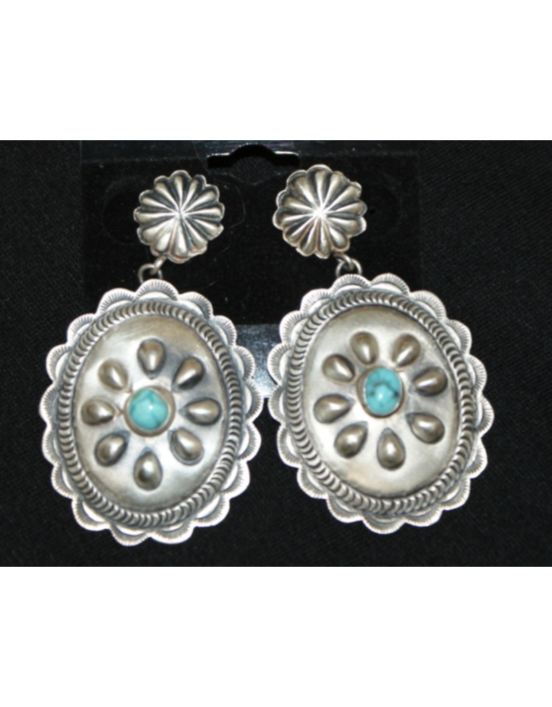 jewelry Sterling Concho Earrings