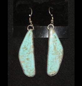 jewelry Sterling Silver & Kingman Turquoise Earrings