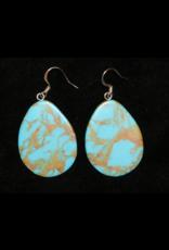 jewelry Oval Turquoise Earrings