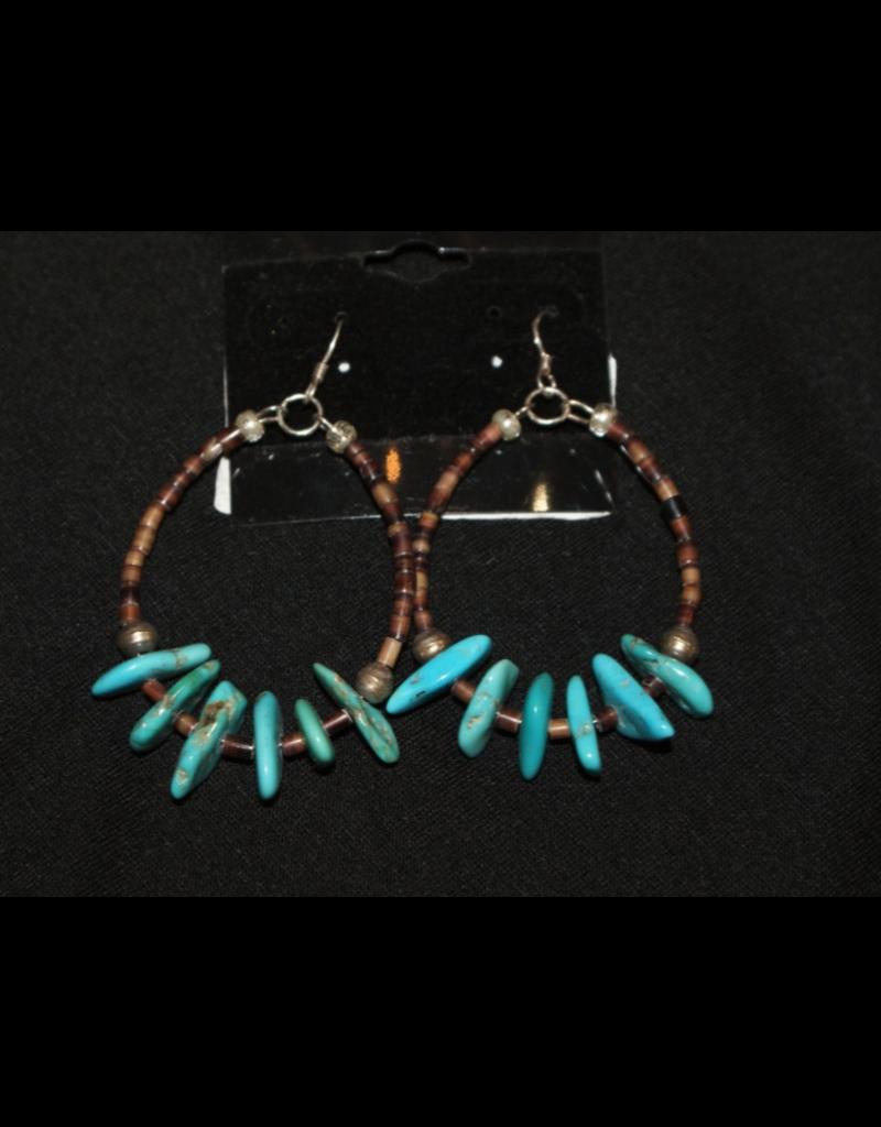 jewelry Santo Domingo Turquoise Heishi Earrings