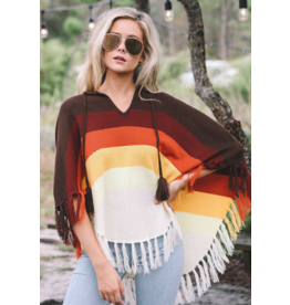 APPAREL Colored Poncho by Judith March