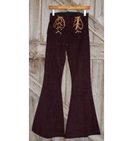 APPAREL Burgandy Flare Pants