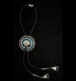 jewelry Zuni Leather Bolo